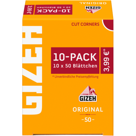 GIZEH Original 10-Pack